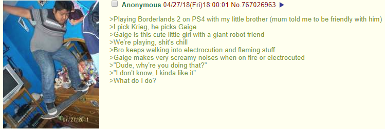 Anon's brother finds something he enjoys