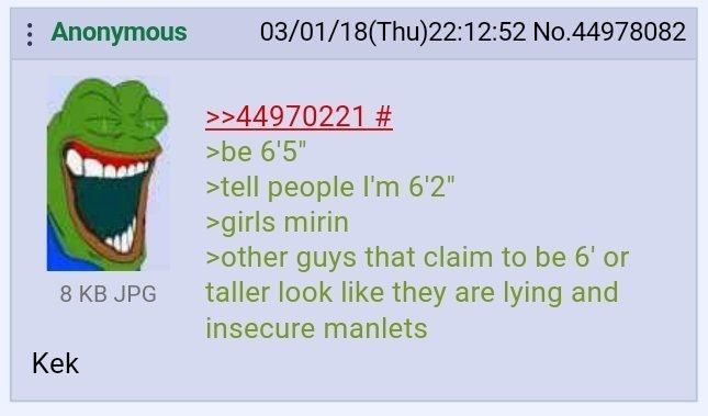 Anon is tall