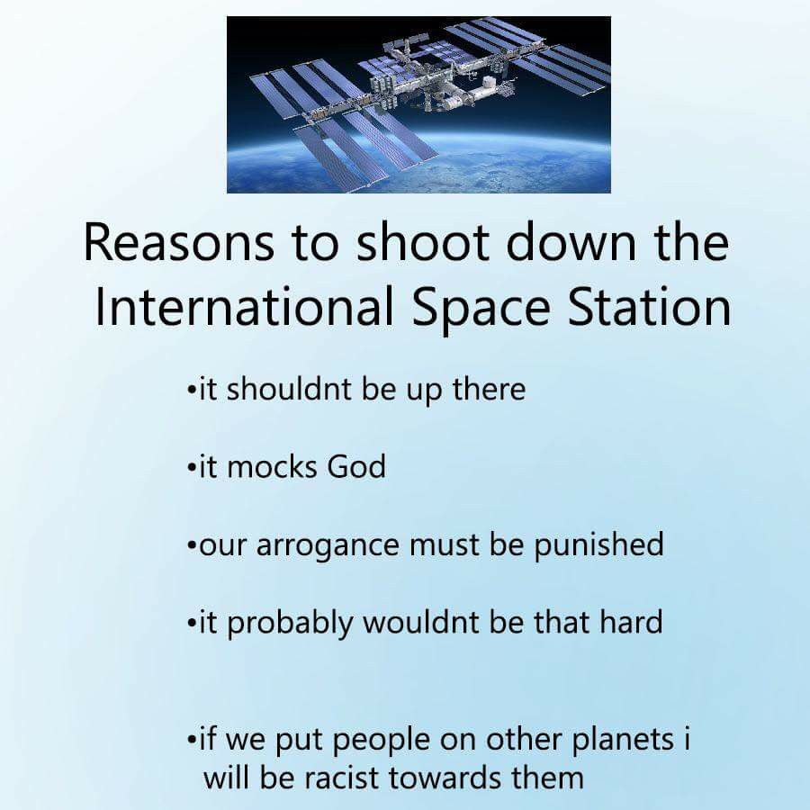 people in space are gae anyways