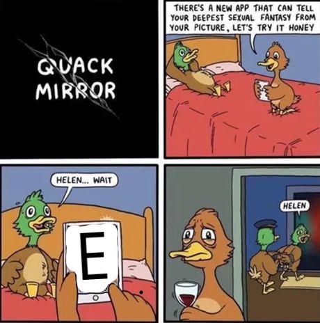 Sick duck