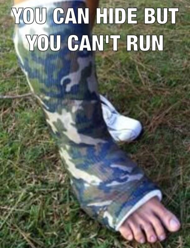 You can hide but you can't run