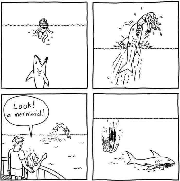 Look a mermaid!