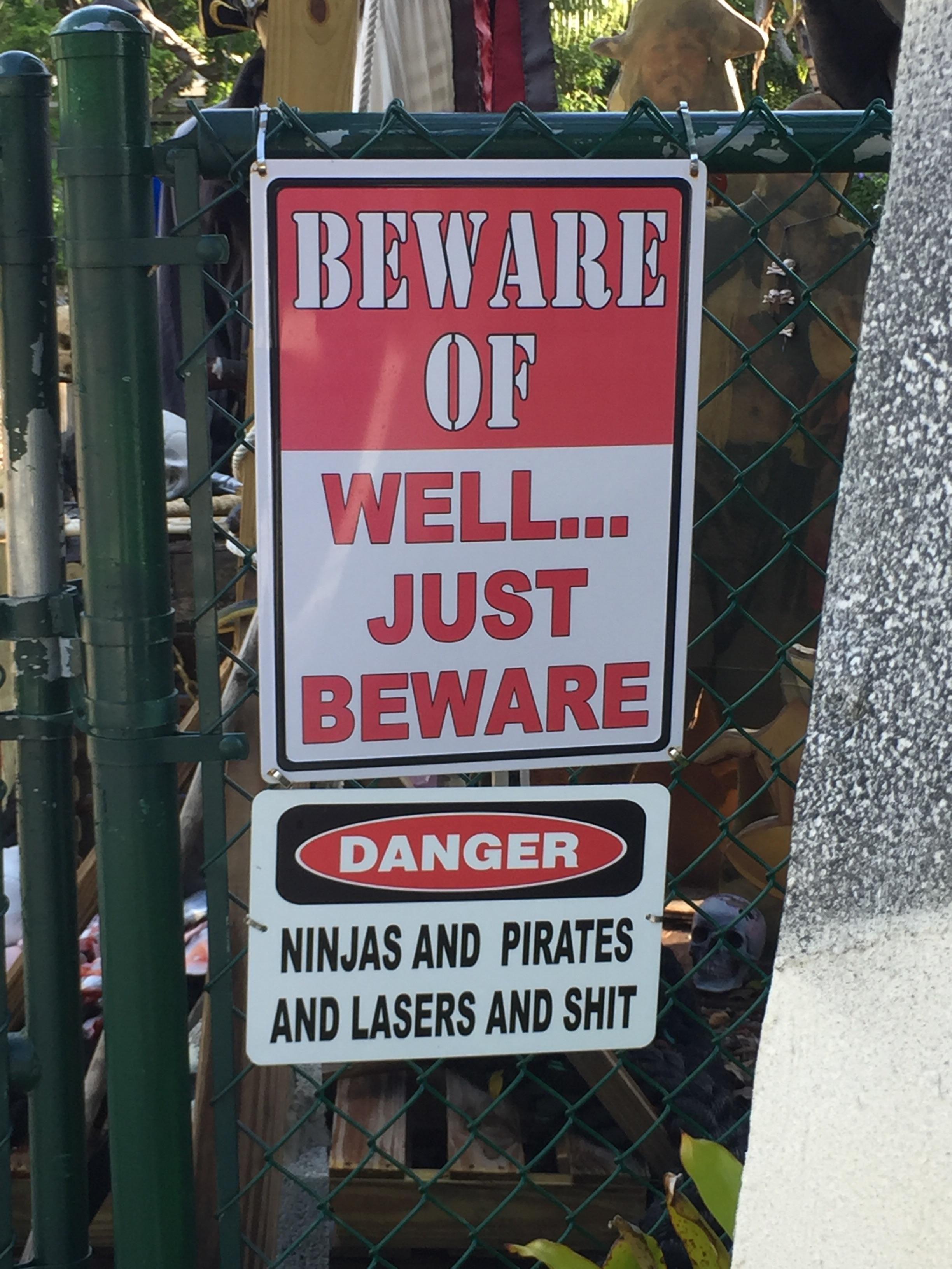 Beware of well... just beware