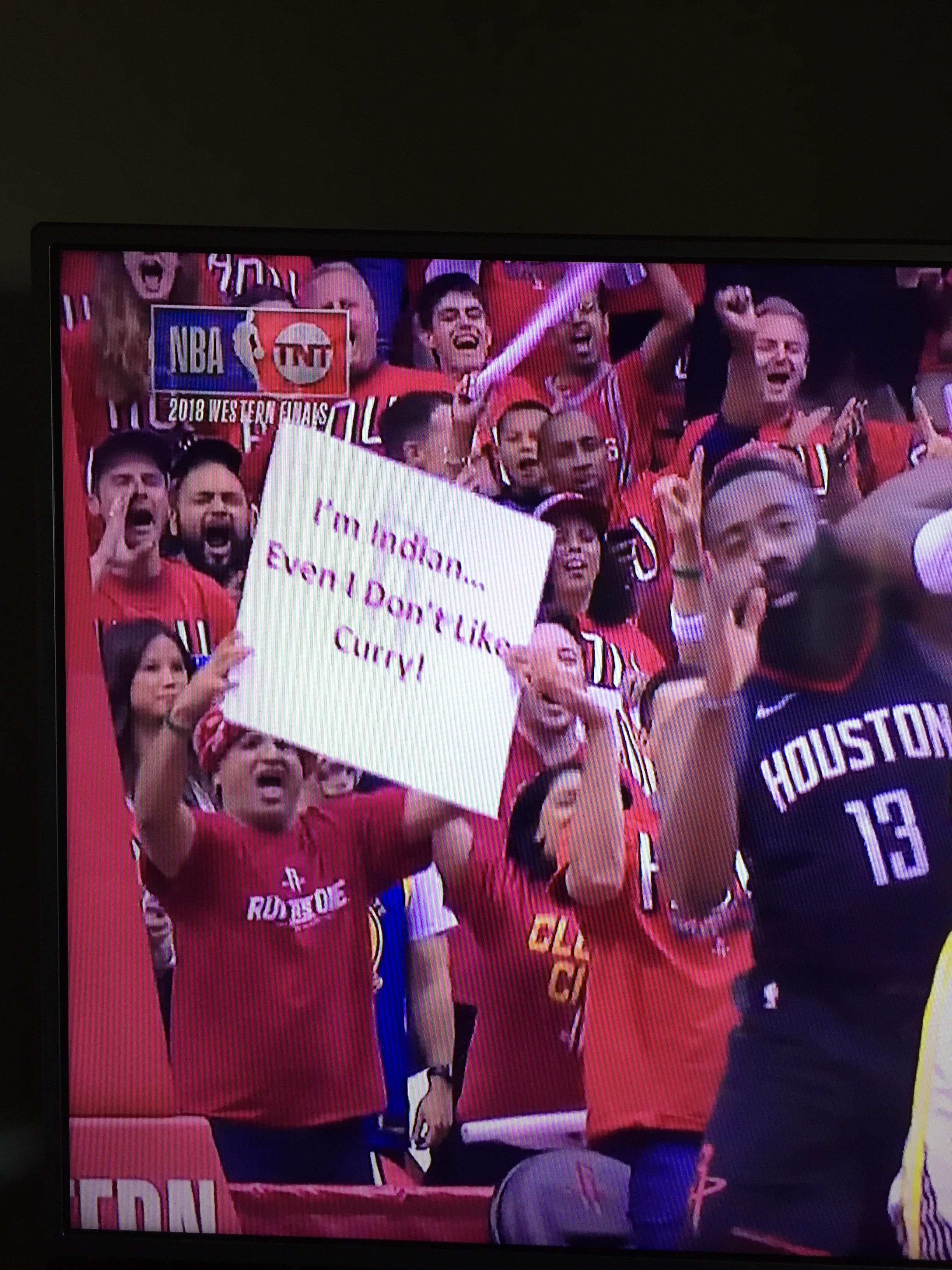This Houston Rockets fan