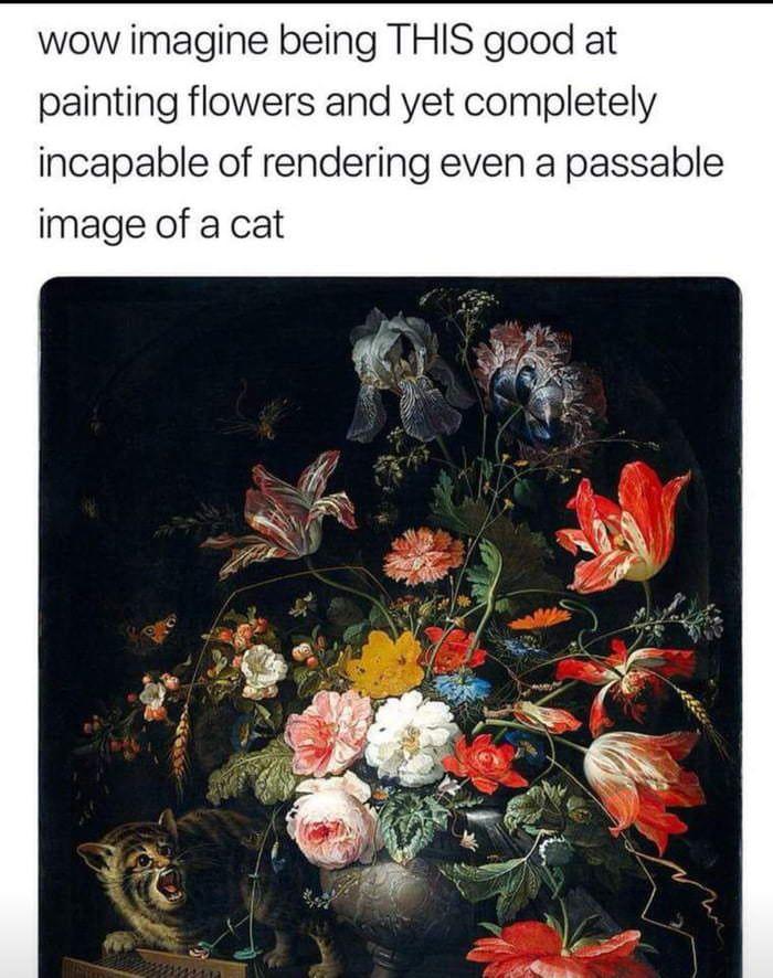 Kitty cat flower power