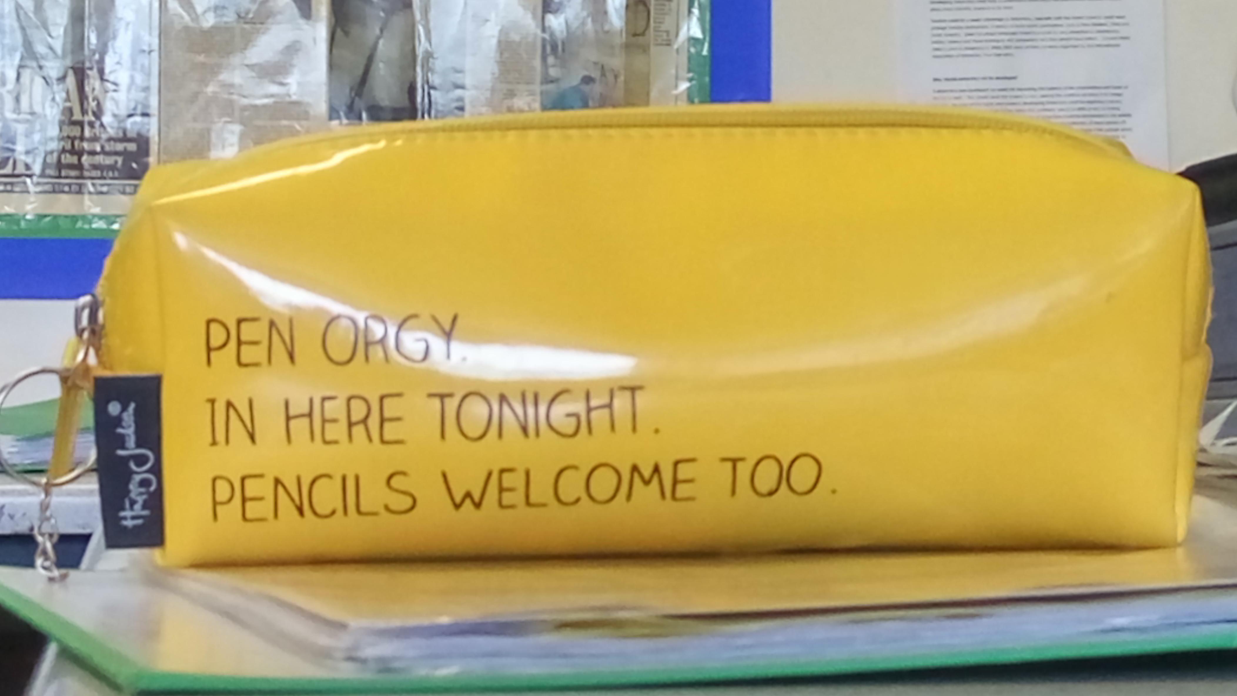Teachers pencil case