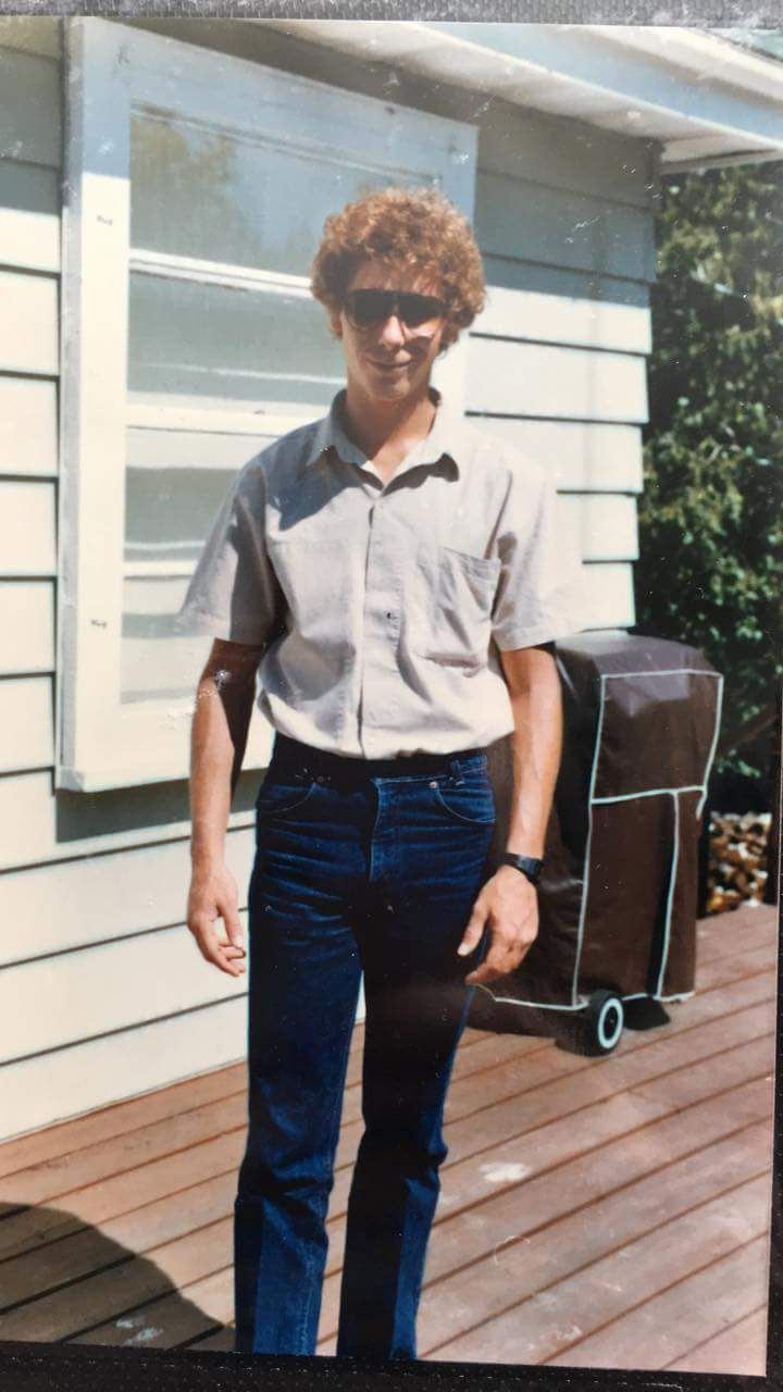 My uncle looking like Napoleon Dynamite back in the day......