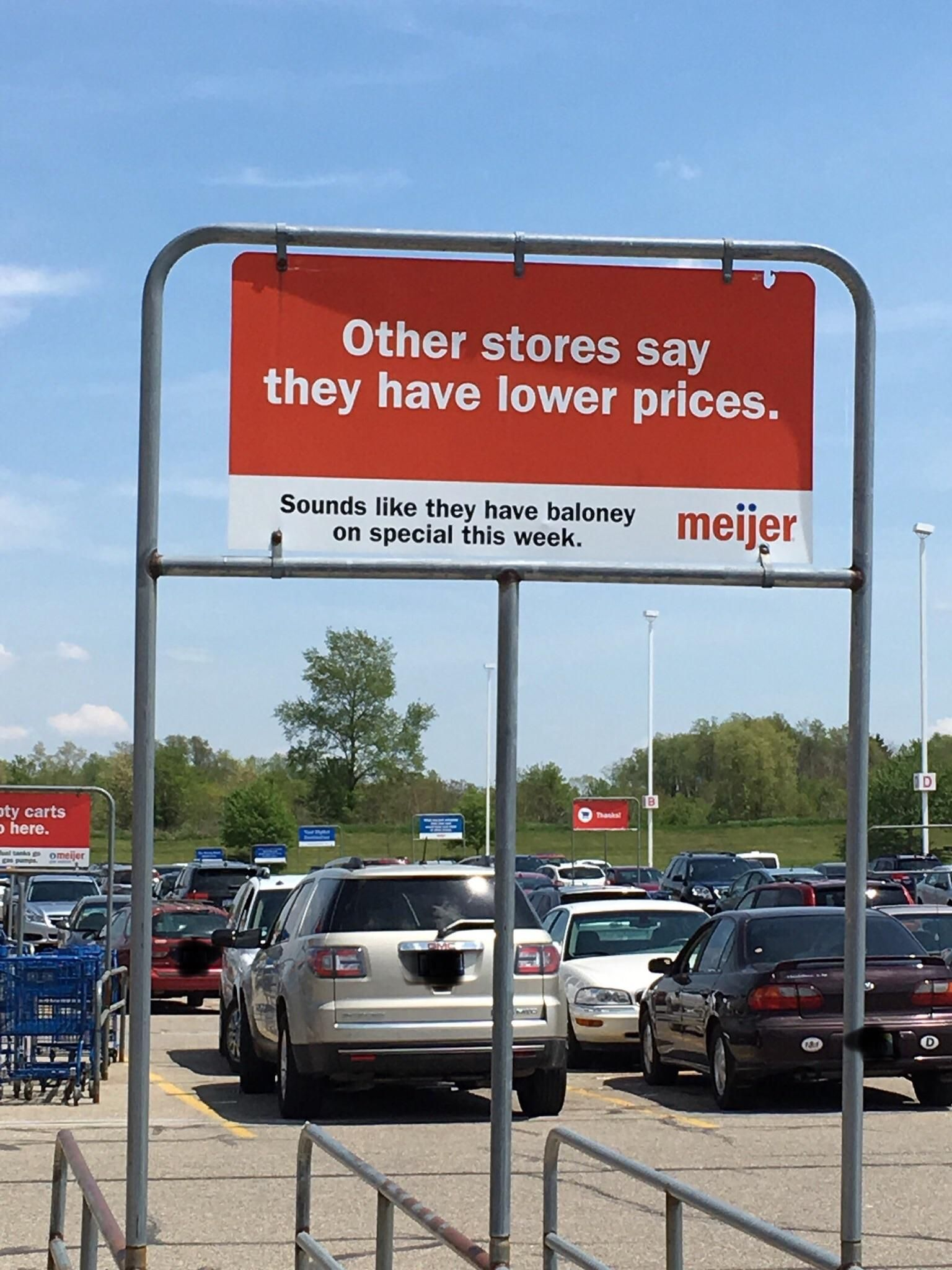 Some unexpected shade thrown by Meijer.