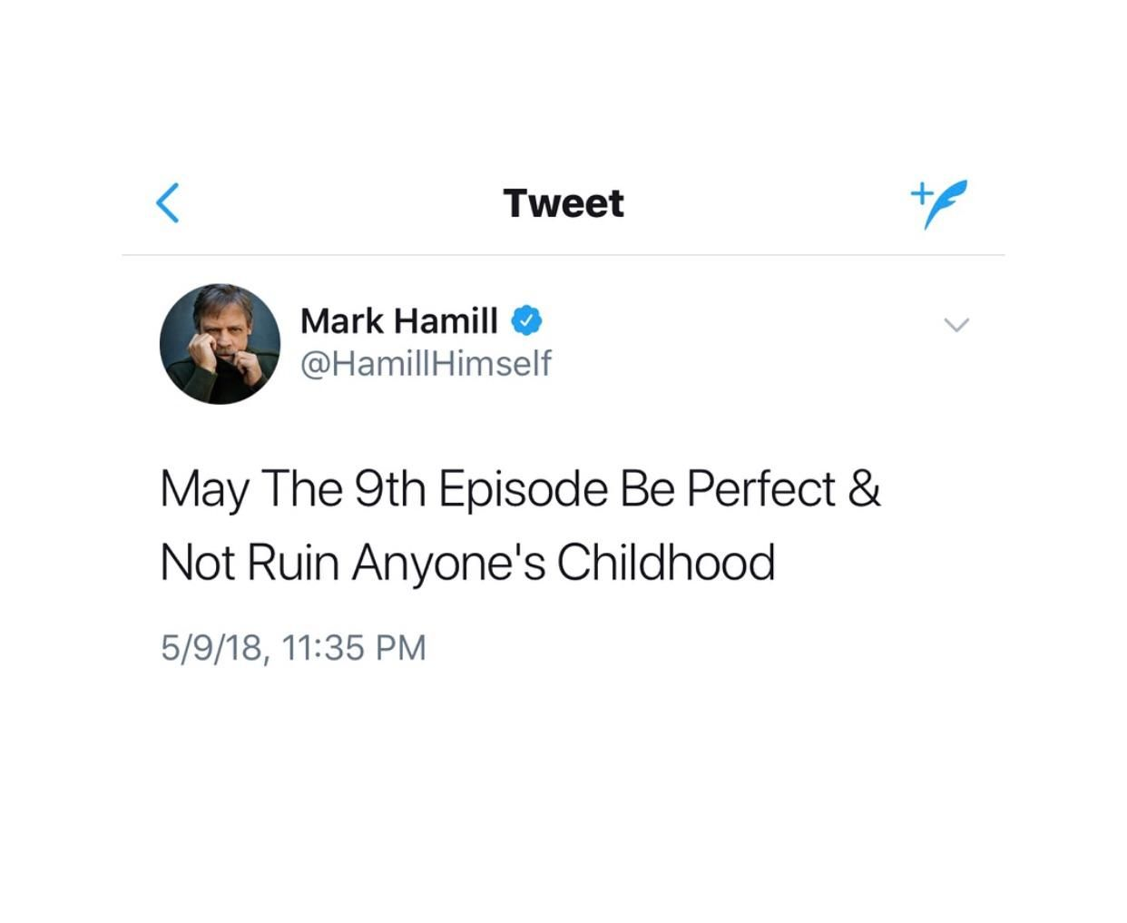 Mark Hamill best May Quote, directed at Movie 9
