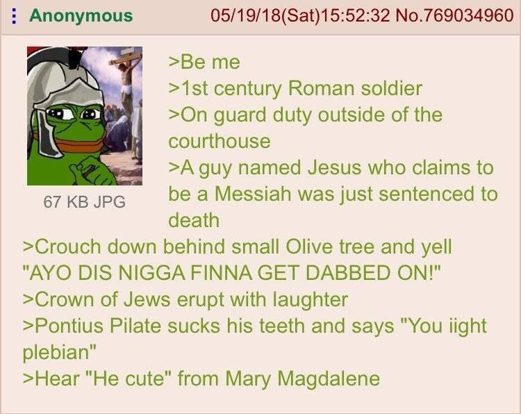 Anon is a Roman soldier