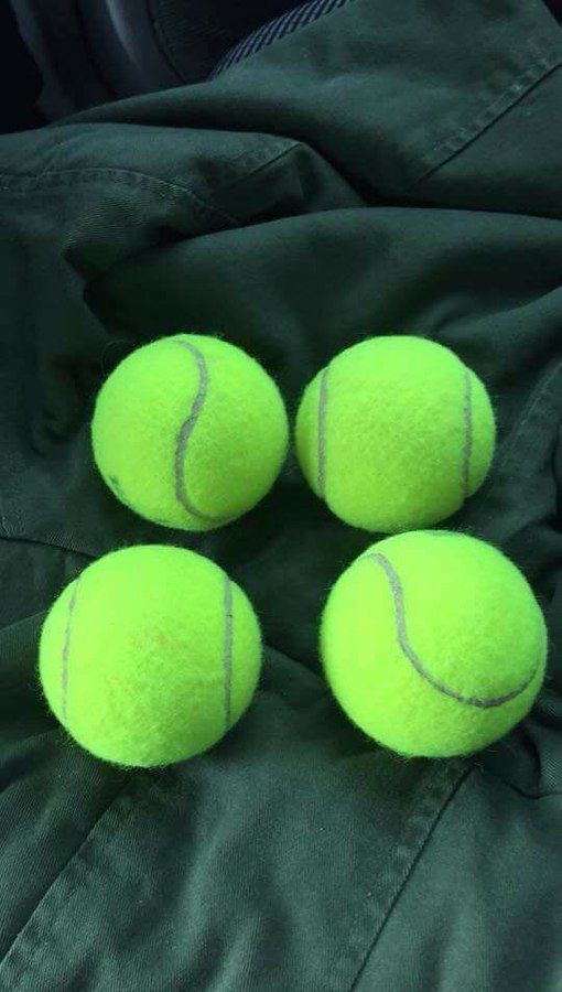 I though i losst my tennis balls, but I found them.