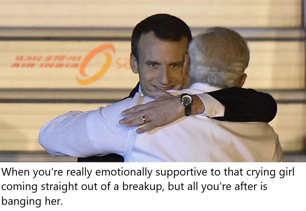 Naughty Macron