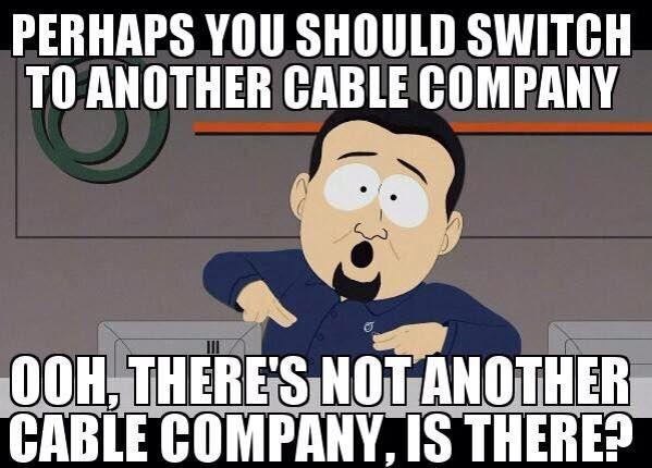Comcast be like...