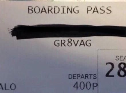Oh thank you, boarding pass