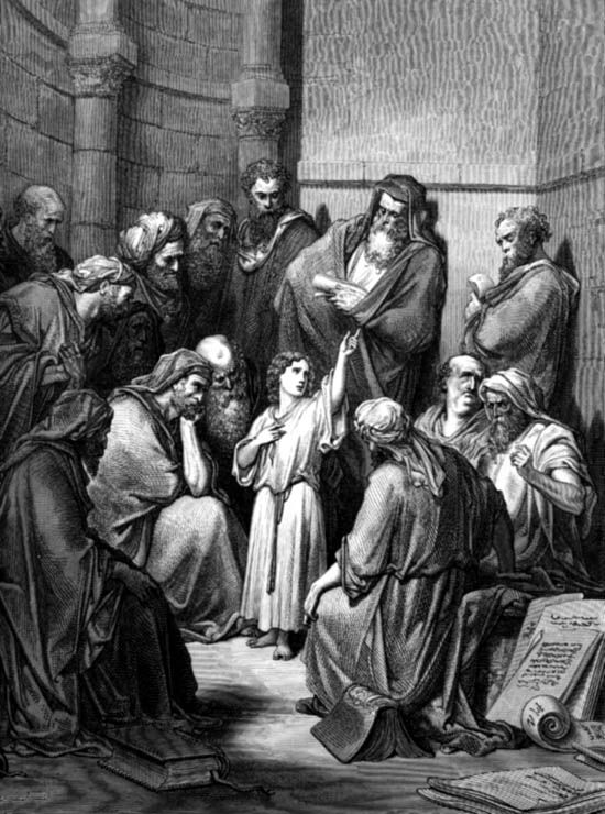 The loss of Jesus in the temple