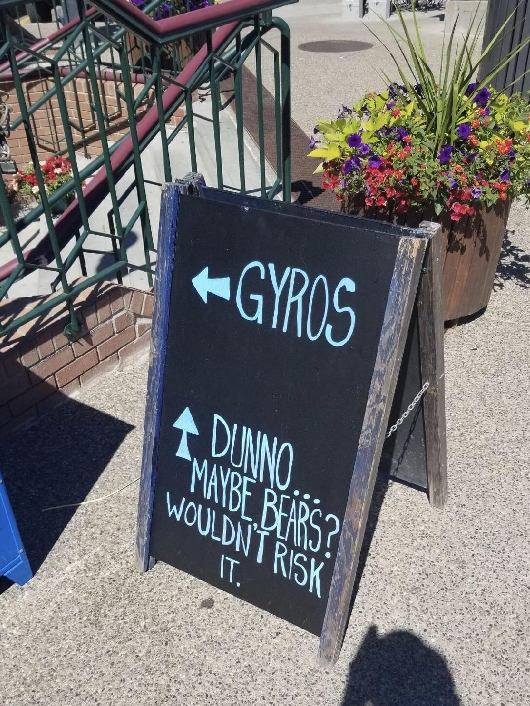 Guess I'm having gyros for dinner