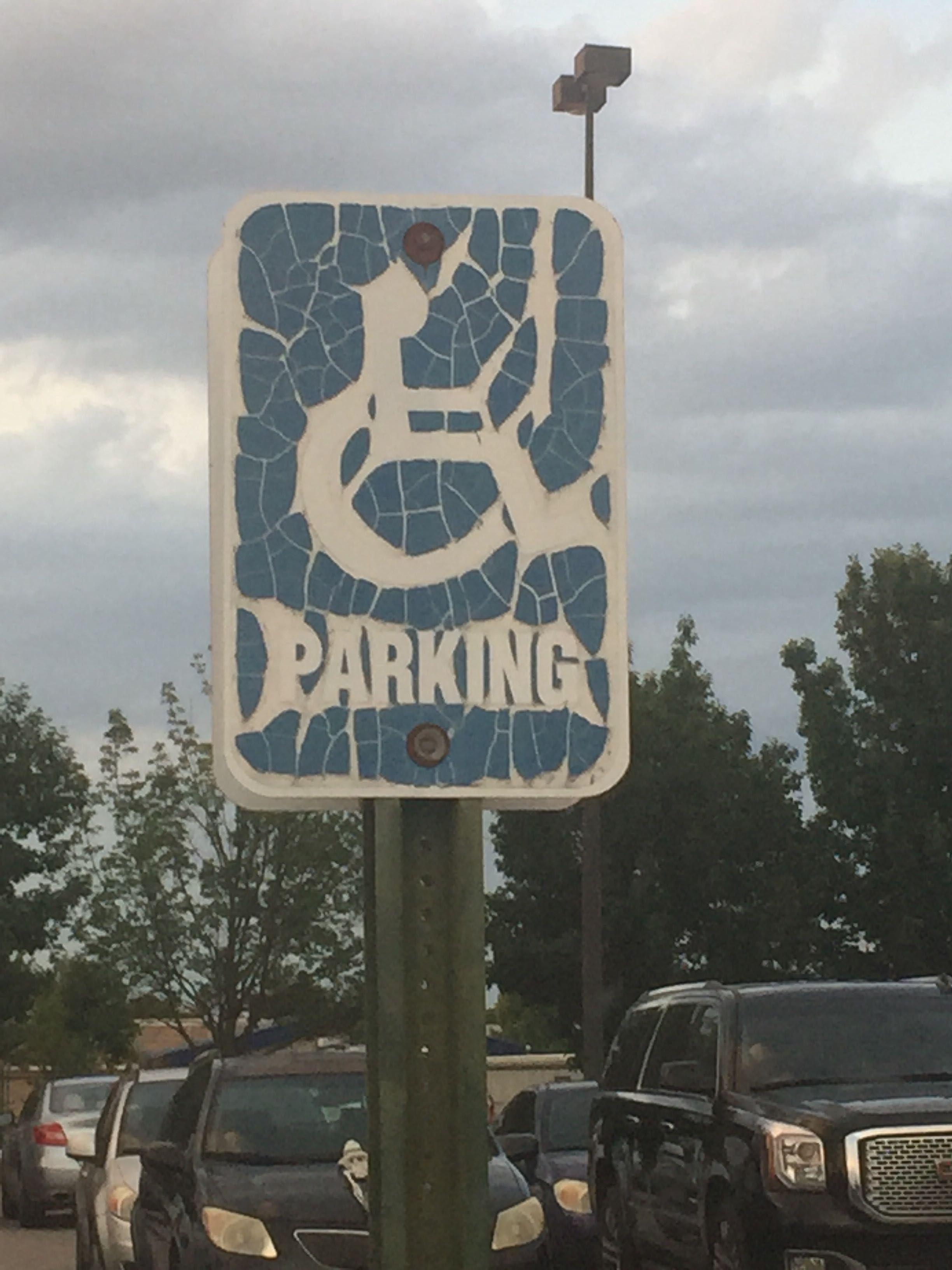 Handicap parking for Metallica fans