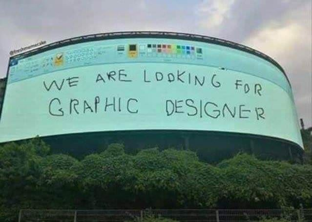 Well... that's one way how to grab people's attention. Could have been worse though, could have been Comic Sans.