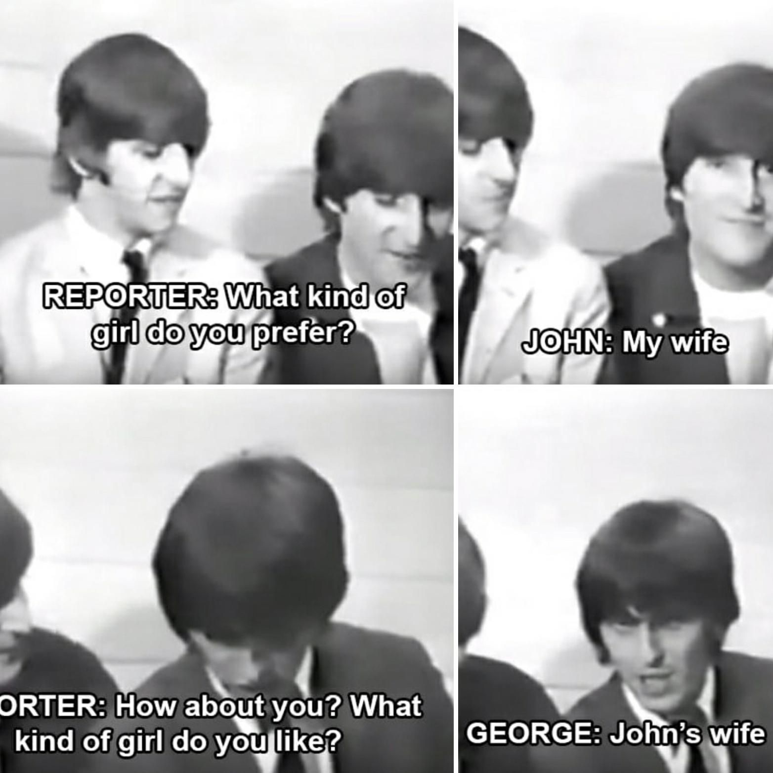 Beatles being funny.