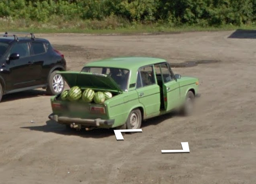 So I was exploring Russia in Google Maps...