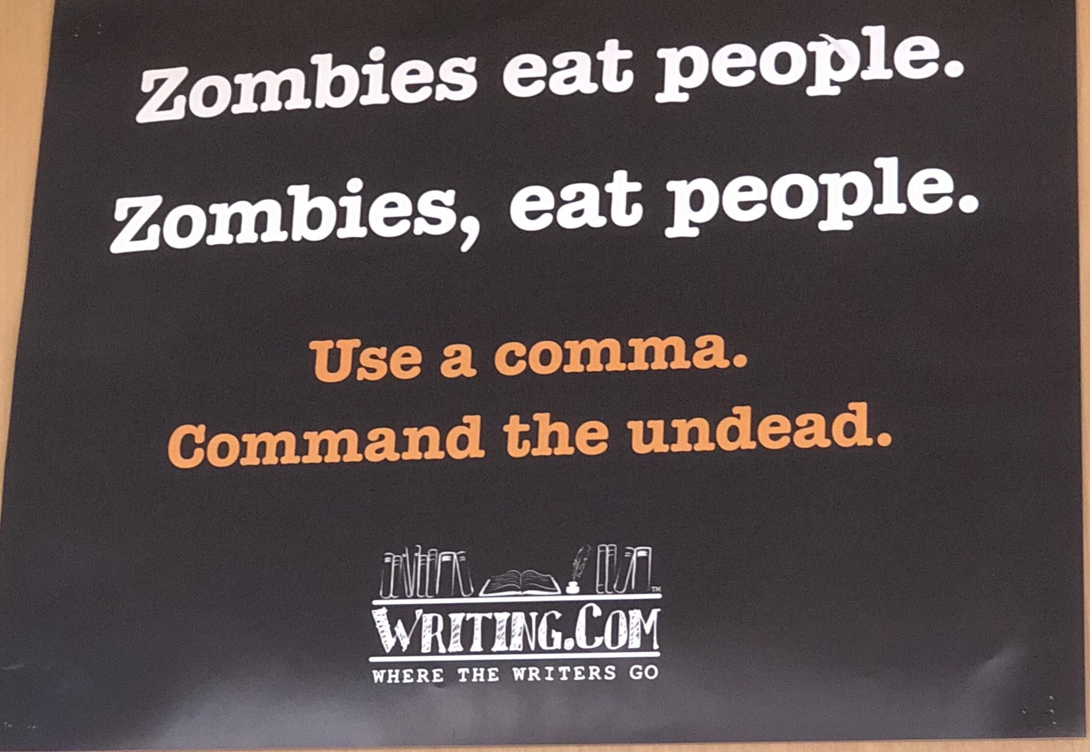 Use a comma. Command the undead.