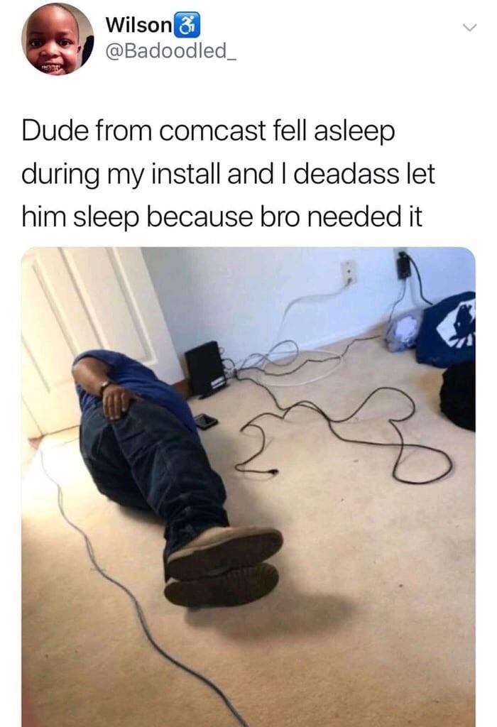 Now bro outta a job