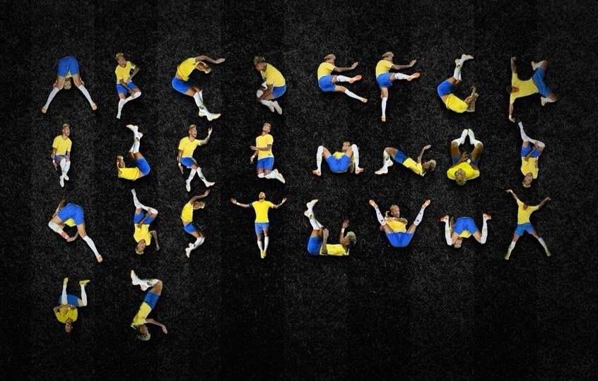 Someone made a Neymar alphabet