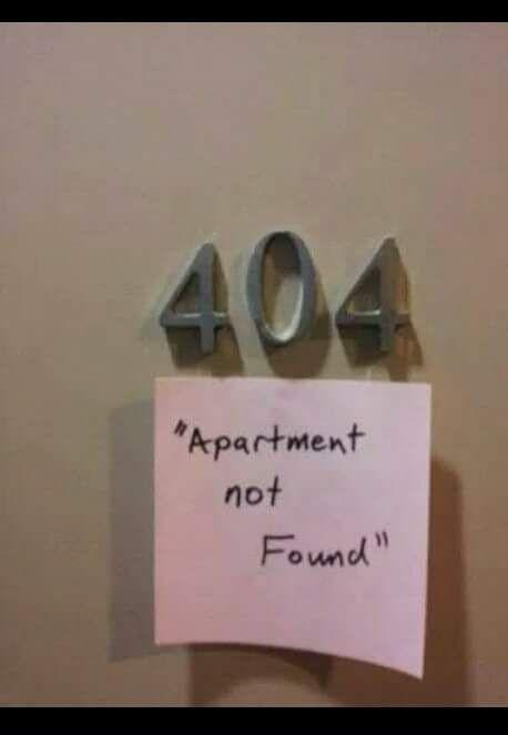 404 Apartment Not Found.