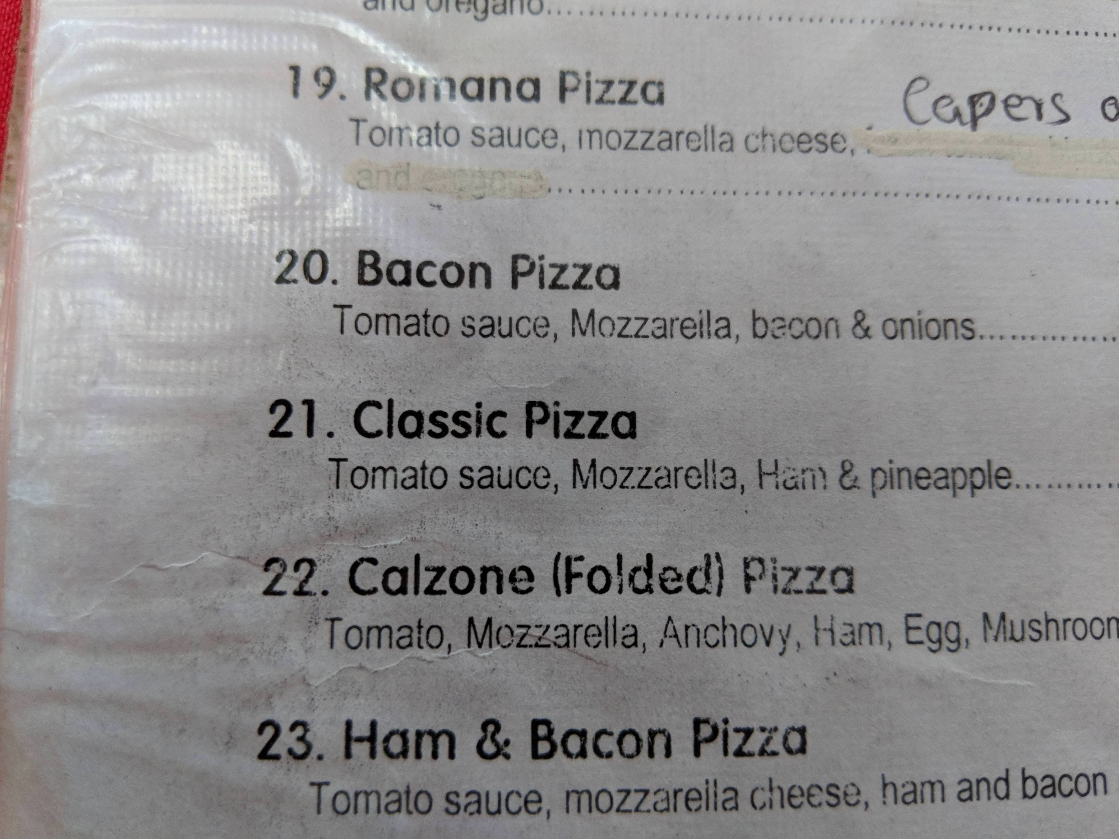 Traveling in Tanzania, they have a unique definition of Classic Pizza