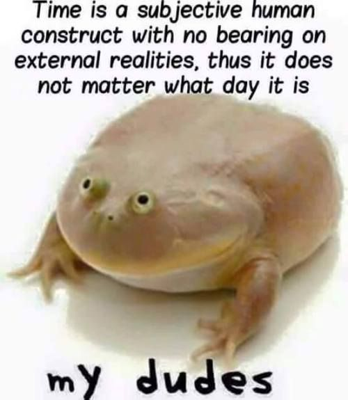 But it's still Wednesday