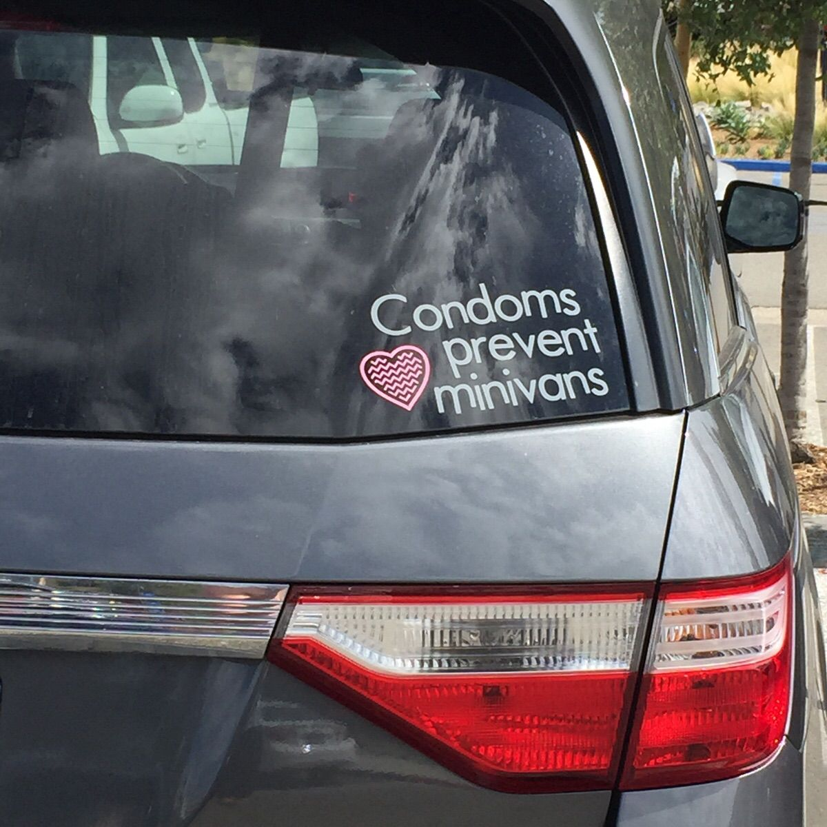 This sticker on a minivan. Much more great.