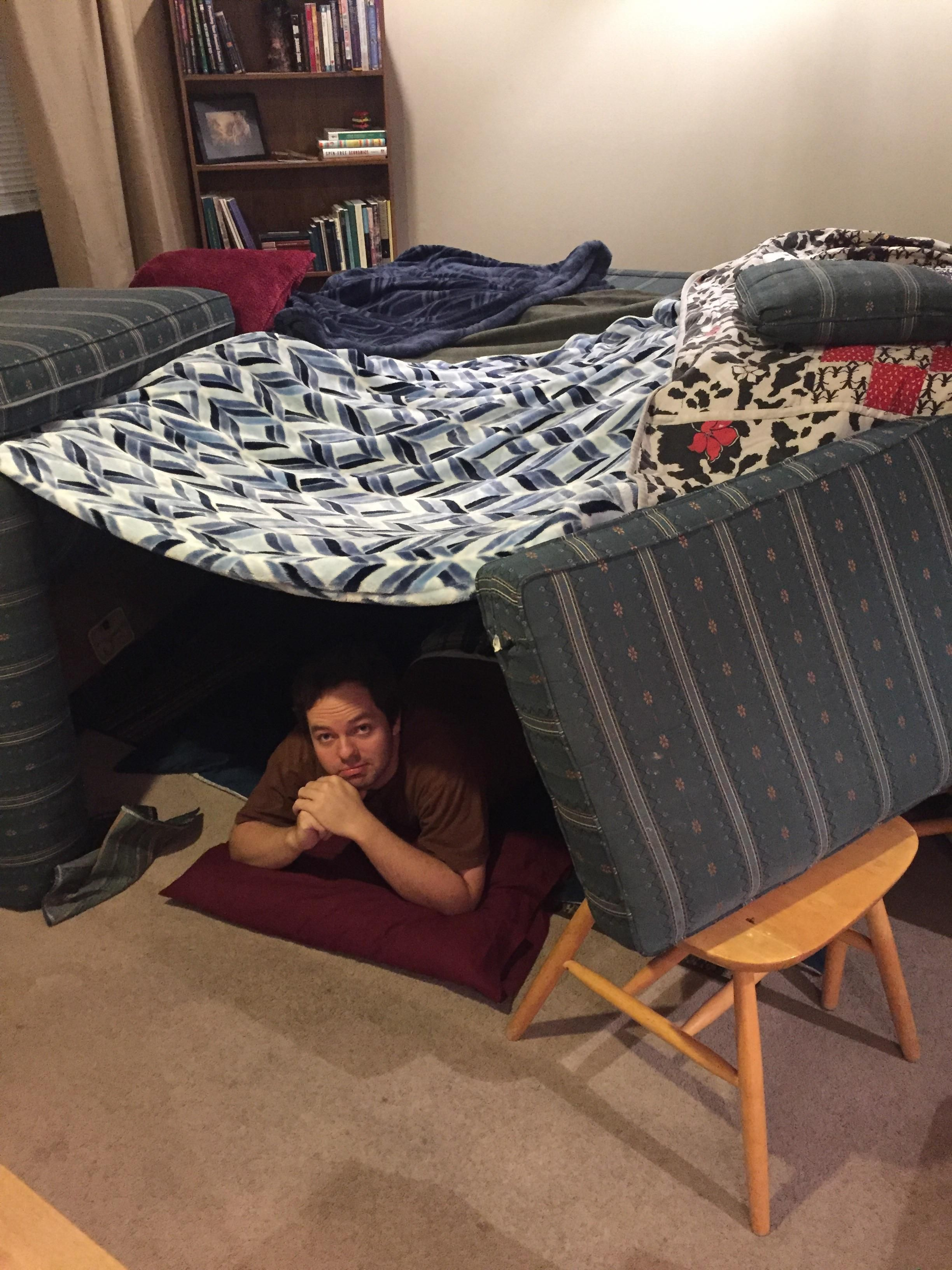 My brother needed a place to stay for the night so I built him a home