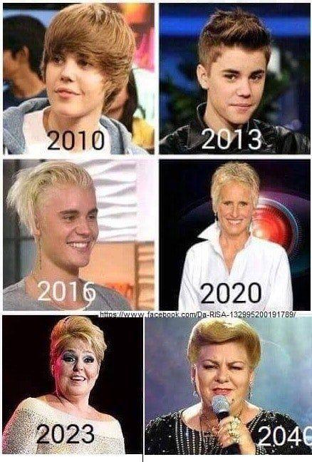 Justine Bieber Evolution.