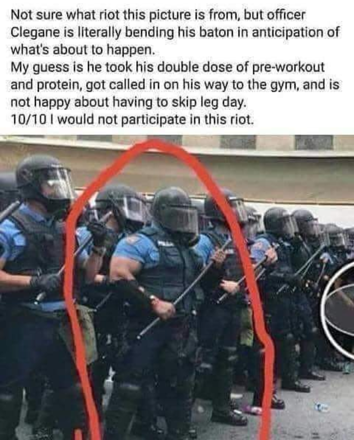 Bad day for a riot