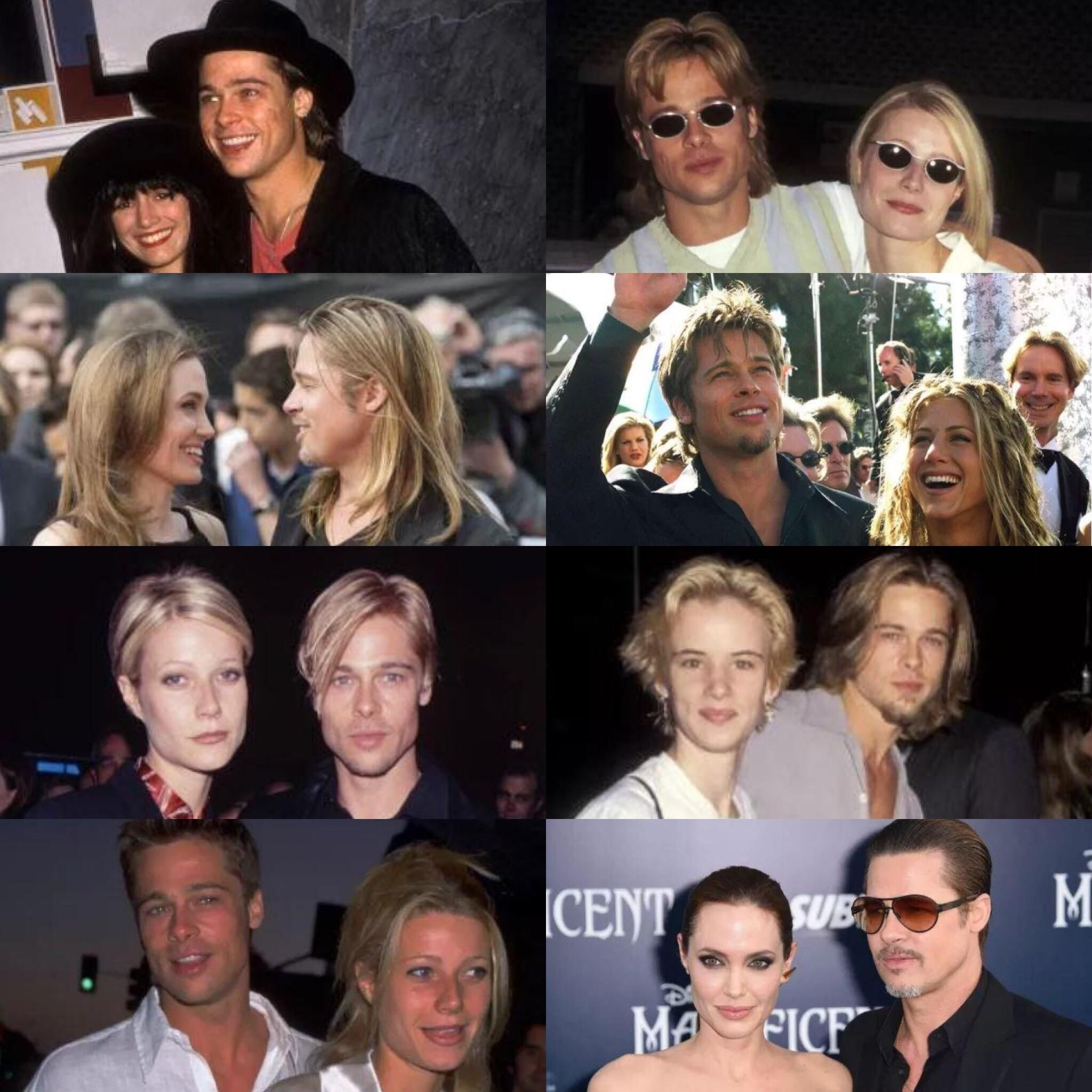Brad Pitt turns into who he's dating.
