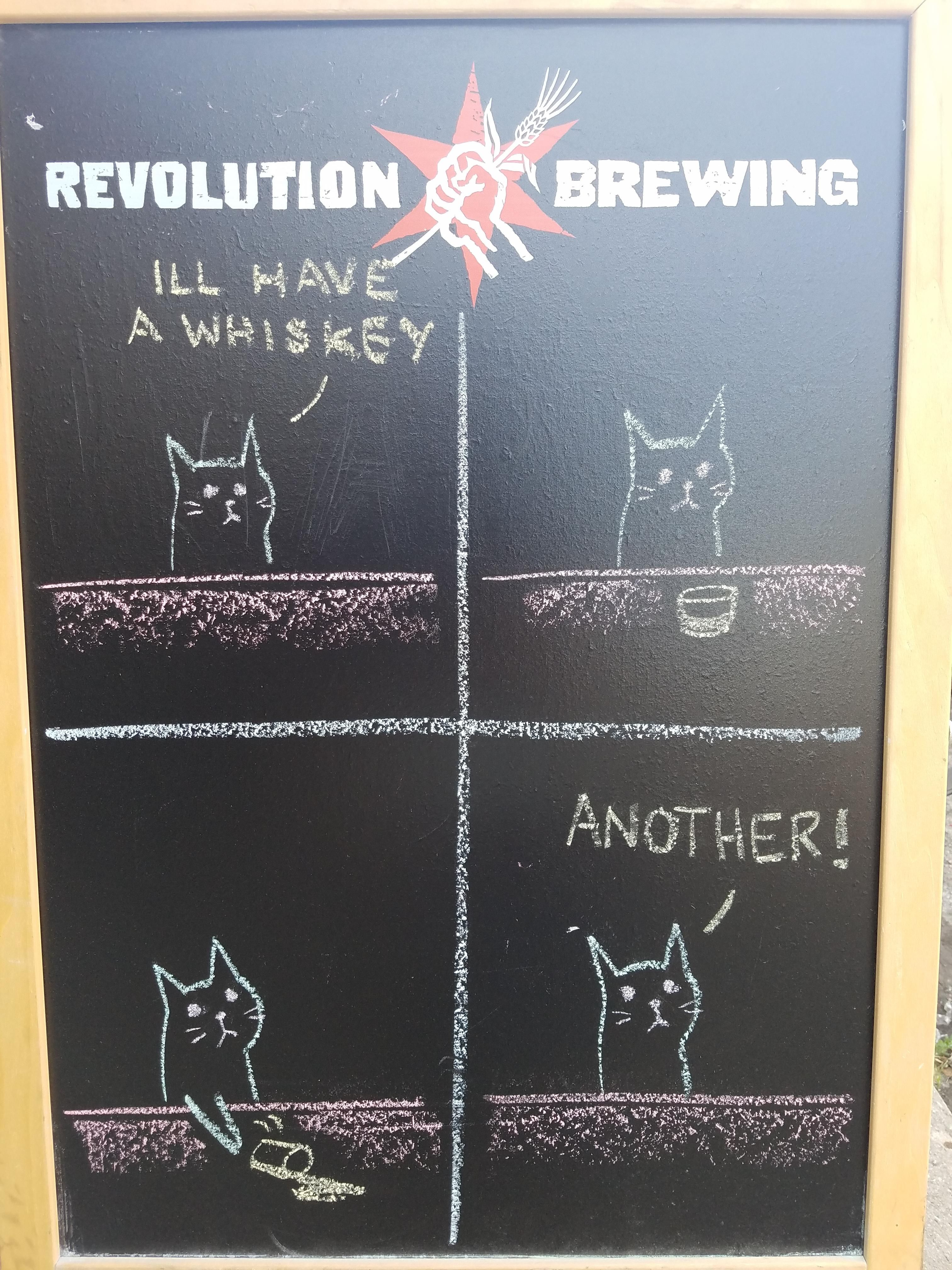 This bar obviously owns a cat