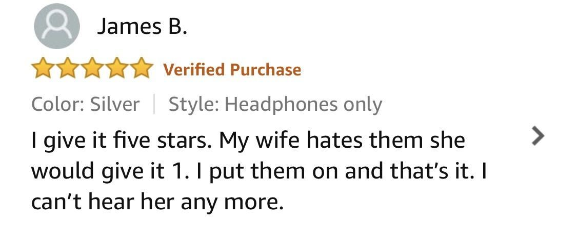 I found the key to life in a review for headphones.