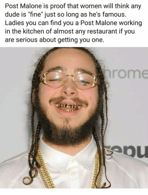 Don't mind me, just riding the recent Post Malone wave