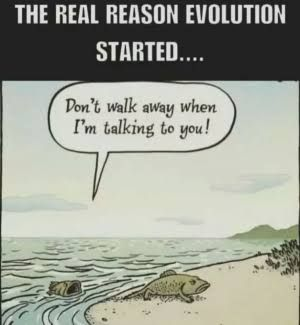 Evolving through the situation.