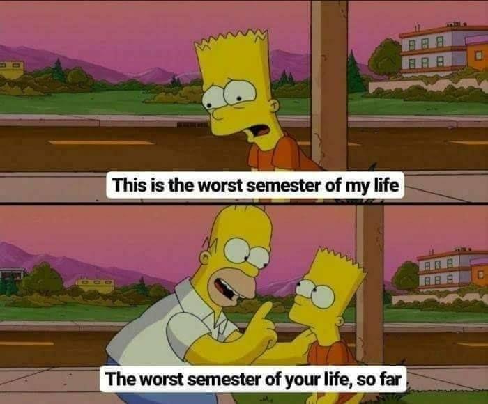 Every damn semester!