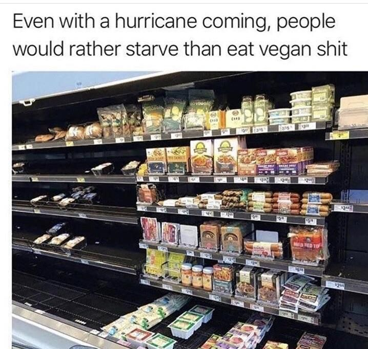 There will be nothing left of the Carolinas but vegan snacks and tofu
