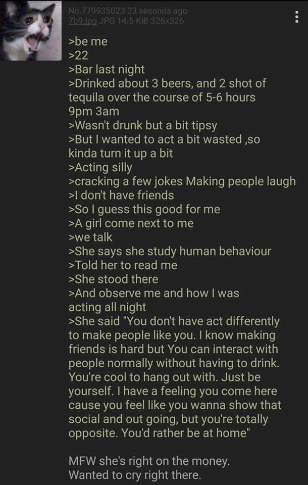 Anon goes to the bar