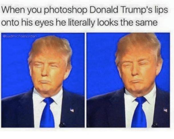 Or his eye onto his lips