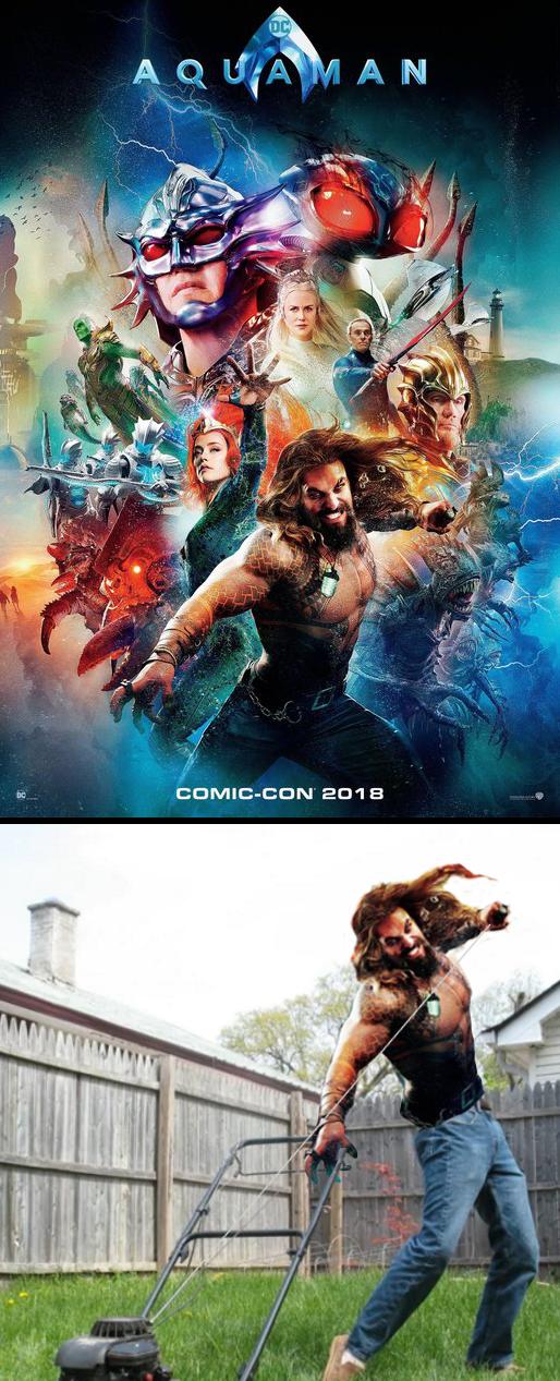 The Aquaman movie looks pretty intense.