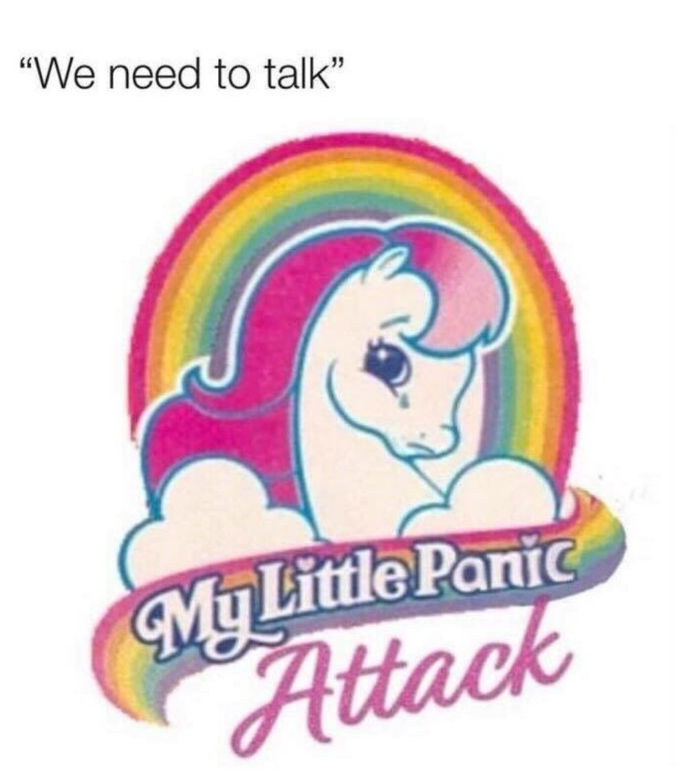"""We need to talk"""