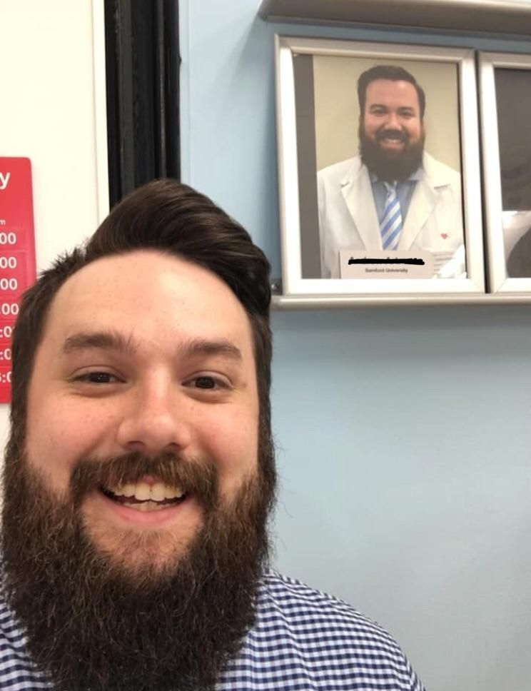 When you go to get a flu shot and the pharmacist is your doppelgänger