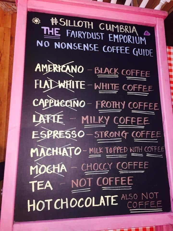 No nonsense coffee guide!
