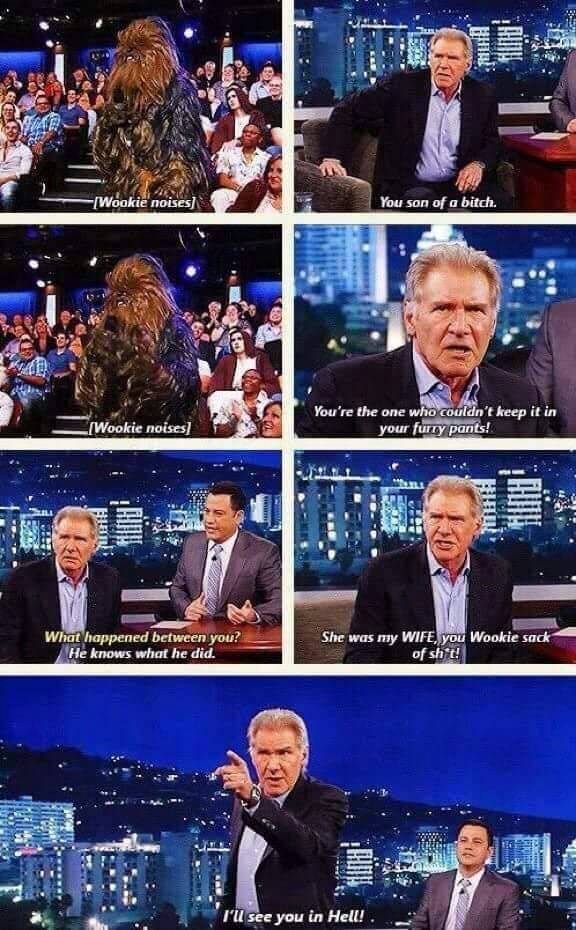 Harrison Ford ladies and gentlemen