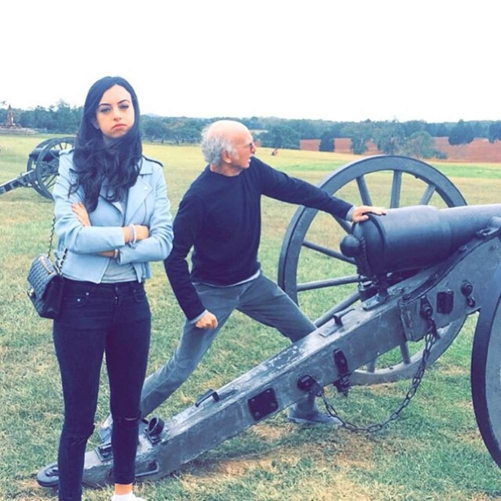 Larry David and his daughter having a fun day out.
