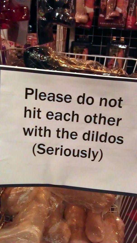 Sign at a sex shop.